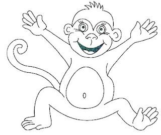 Risco para pintura de macaco