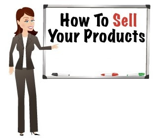 Sell your own products via the blog