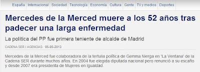 La Cadena SER usa eufemismo para hablar del cáncer de Mercedes de la Merced