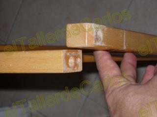 Eltallerdecarlos hacer tubill n o espiga casera reparar - Pasta para reparar madera ...