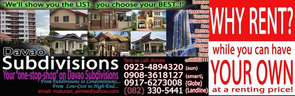 New Davao Subdivisions