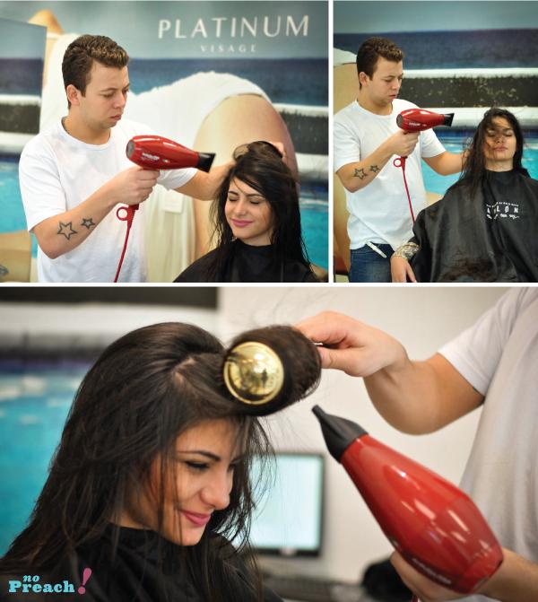 salão platinum visage - escova de cabelo para reduzir o frizz