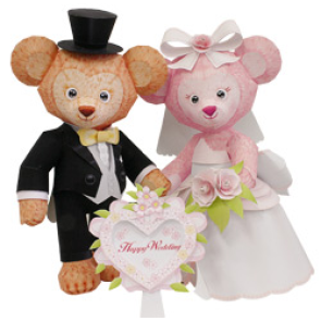 Wedding Bear Papercraft