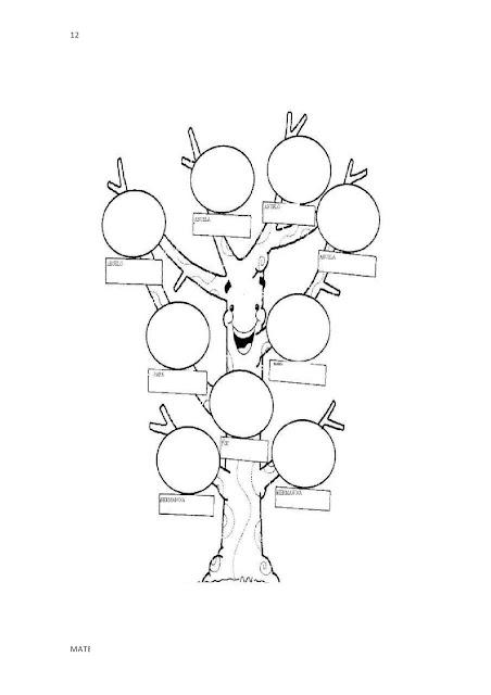 imagenes del arbol genealogico para colorear