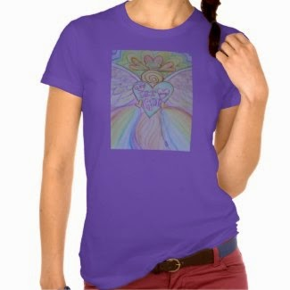 Let Love, Let God Rainbow Pastel Angel Art Shirts