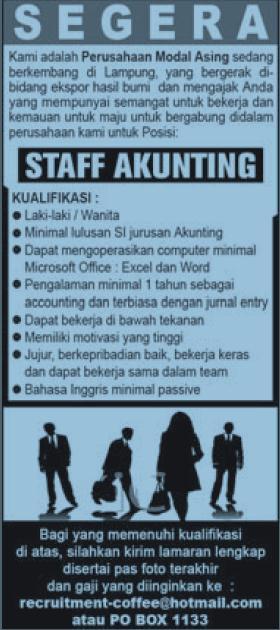 lowongan kerja lampung lowongan kerja di perusahaan keuangan syariah ...