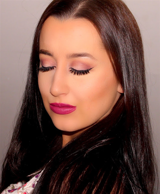 Valentine's Day Rose Pink and Gold Contouring Makeup Tutorial