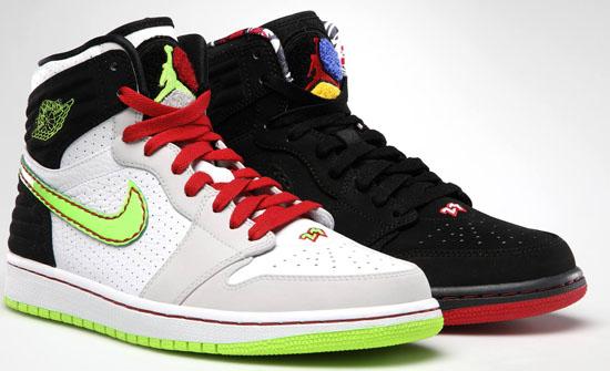 Nike Air Jordan 1 Retro '93 White/Electric Green-Gym Red Sneakers  3125760