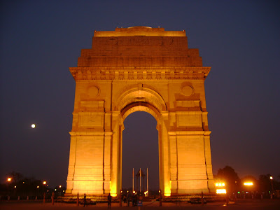India Gate in the night time