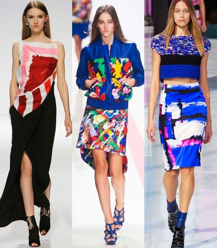 Tendencia primavera-verão 2015 - Arty Vestido, saia, casaco e crop top