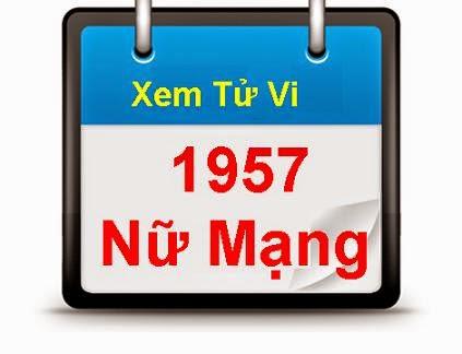 XEM TU VI 1957 DINH DAU NU