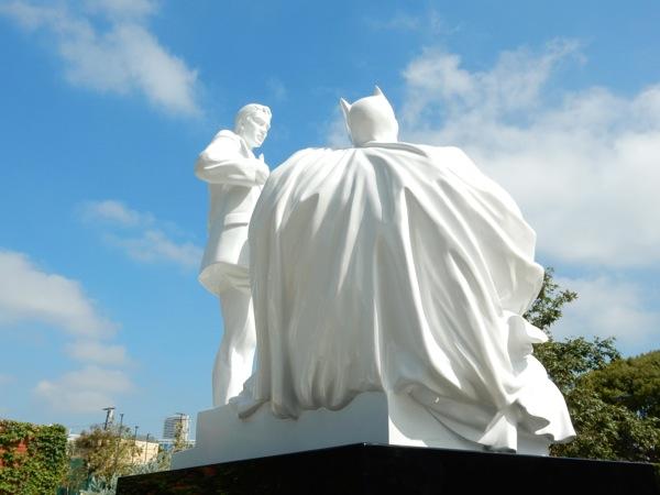 Batman Superman Modern Heroes statue