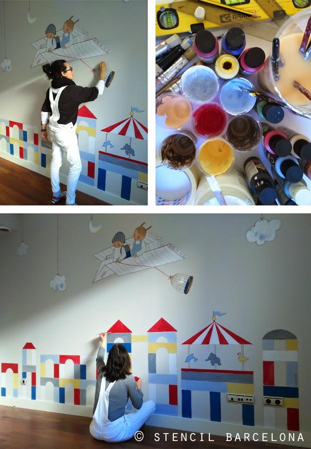 Murales infantiles pintados a mano mural infantil - Murales infantiles pintados a mano ...