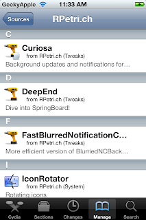 Cydia apps for ipad