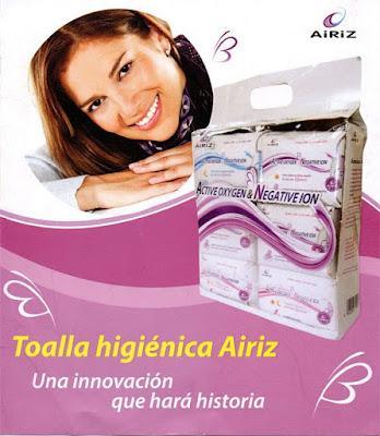 Presentación Toallas Higiénicas six pack