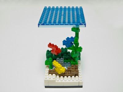 ナノブロックで作った水中