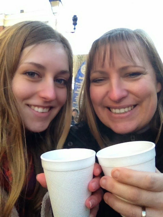 A selfie with my mum at Rochester Markets