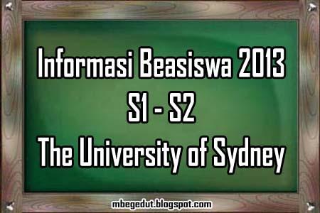 beasiswa, beasiswa australia, info beasiswa australia, beasiswa 2013, beasiswa australia terbaru, informasi beasiswa di australia, beasiswa 2013 luar negeri, beasiswa s1, beasiswa s2, The University of Sydney