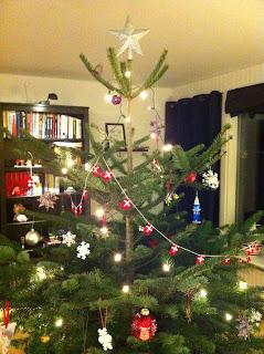 flagranke til juletræ af hama perler