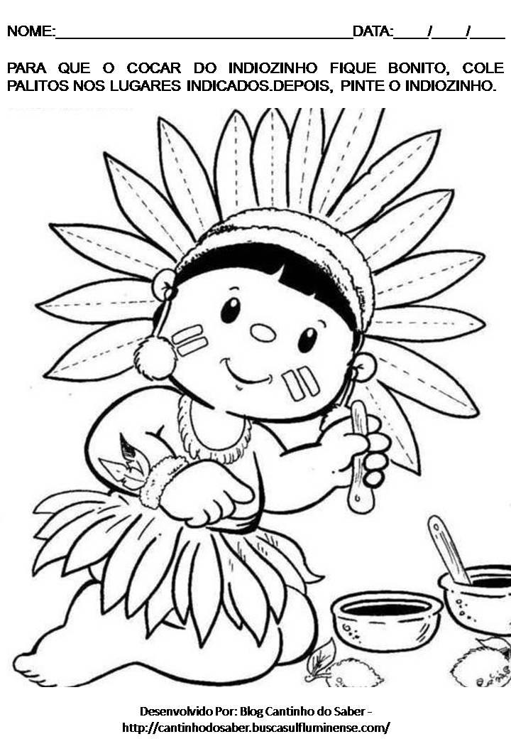 06 04 Atividade Para O Dia Do   Ndio Para O Maternal E A Educa    O