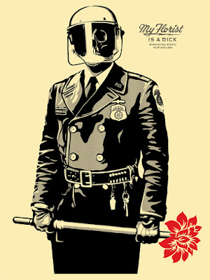 "Obey Giant ""My Florist Is A Dick"" Screen Print by Shepard Fairey"