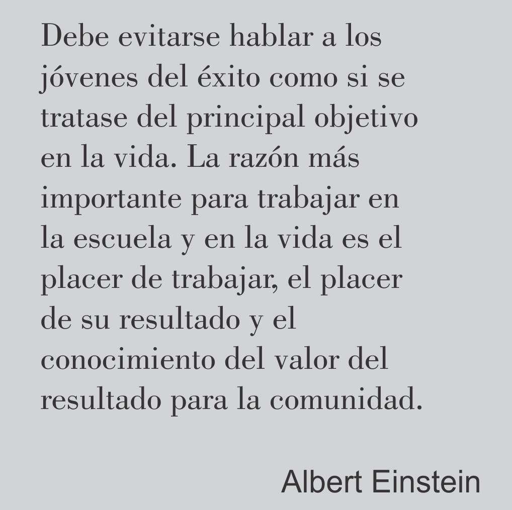 Einstein y su pensamiento sobre el trabajo