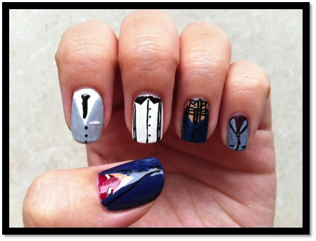 One Direction inspired nails!