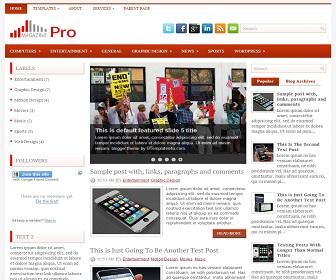 pro photo blog templates - magazine pro blogger template best blogger templates