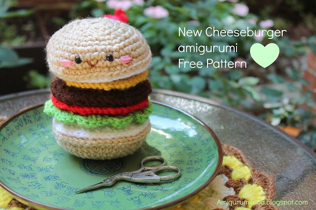 Amigurumi Food : Amigurumi Food: NEW PATTERN Cheeseburger Amigurumi Free ...