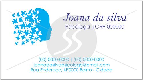 cartao de visitas psicologo simples 06 - Cartões de Visita para Psicólogos
