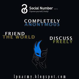 Social Number : Jejaring Sosial Anonymous Pertama