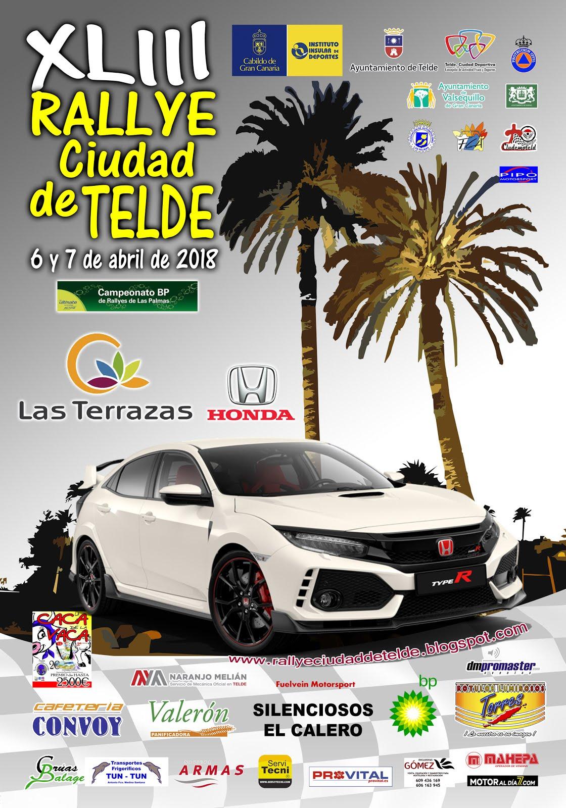 Cartel Oficial Rallye Ciudad de Telde 2018