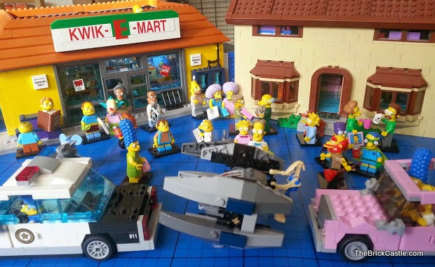 LEGO Star Wars Simpsons 75073 Vulture Droid House  and minifigs