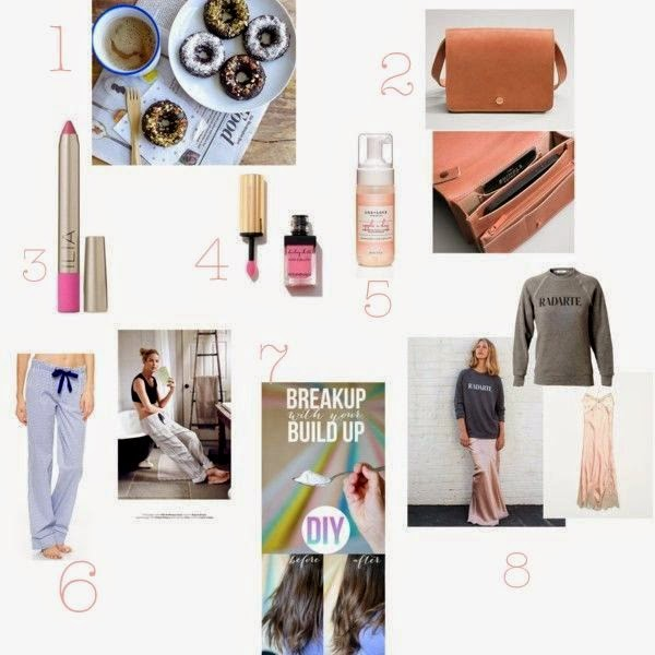 Rodarte sweatshirt, Ilia crayon, healthy donuts and Shinola