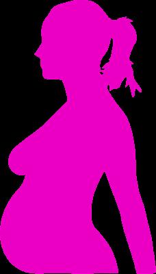 Siluetas de mujeres embarazadas