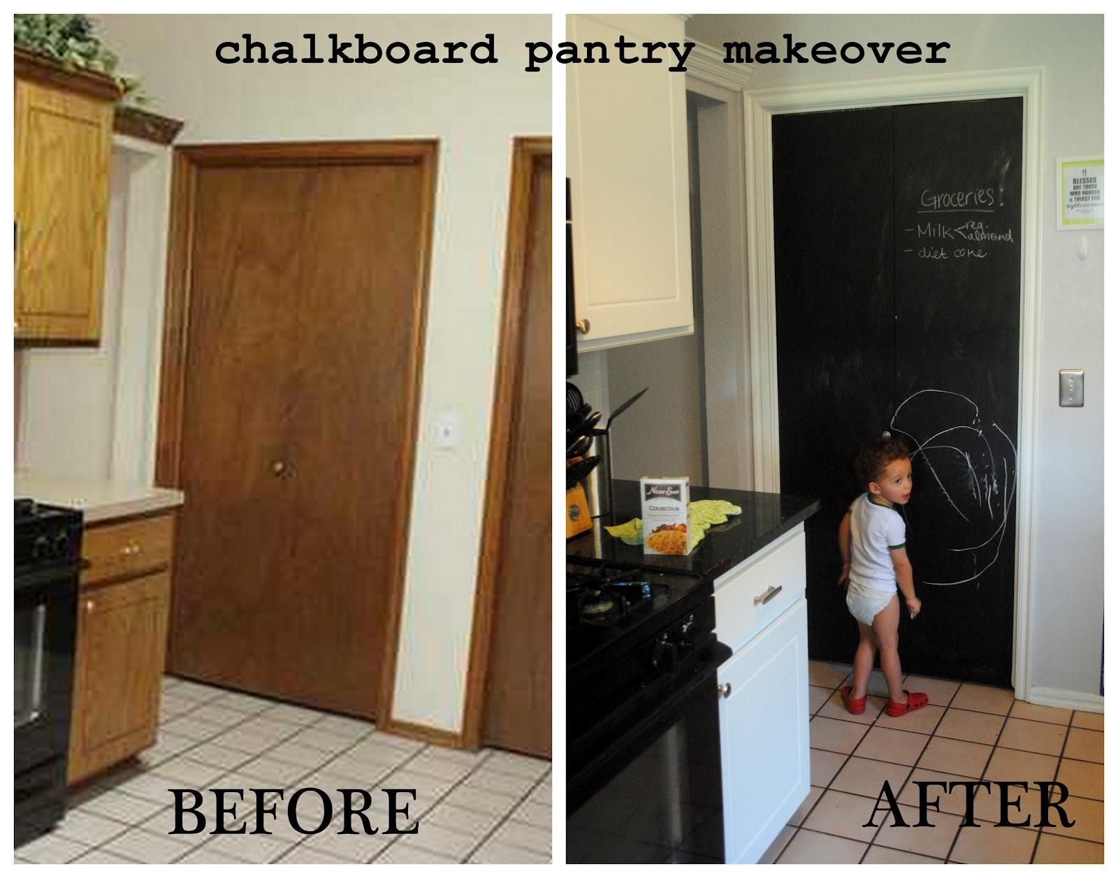 Chalkboard Paint Pantry U003d Happy Kitchen.