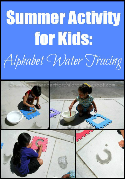 Summer Activity for Kids: Alphabet Water Tracing