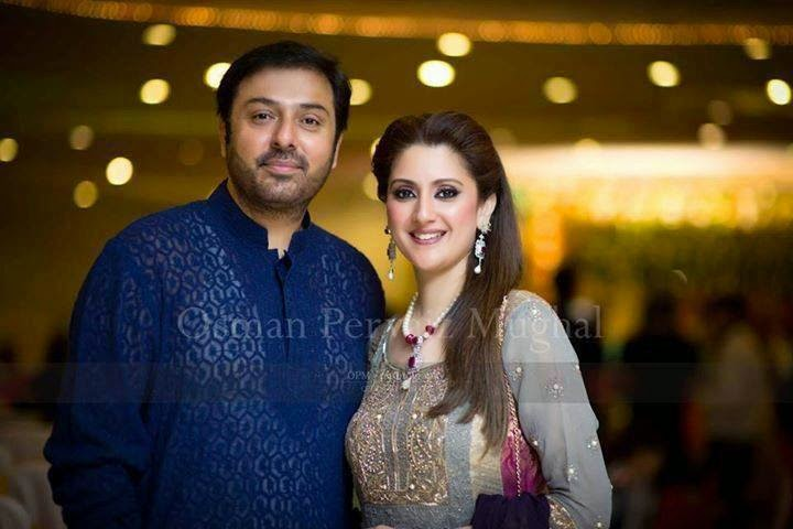 Nauman Ijaz with his Beautiful Wife Picture