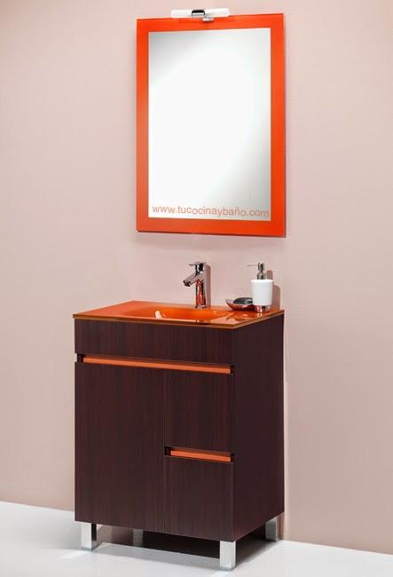 Muebles Baño Color Naranja : Conjunto sil lavabo cristal tu cocina y ba?o