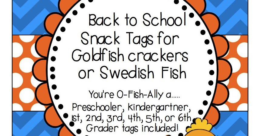 Crazy about second grade back to school snacks o fish for P o fish