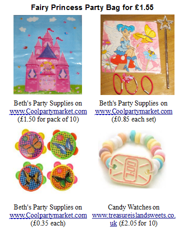 Party Pack for Princess Party