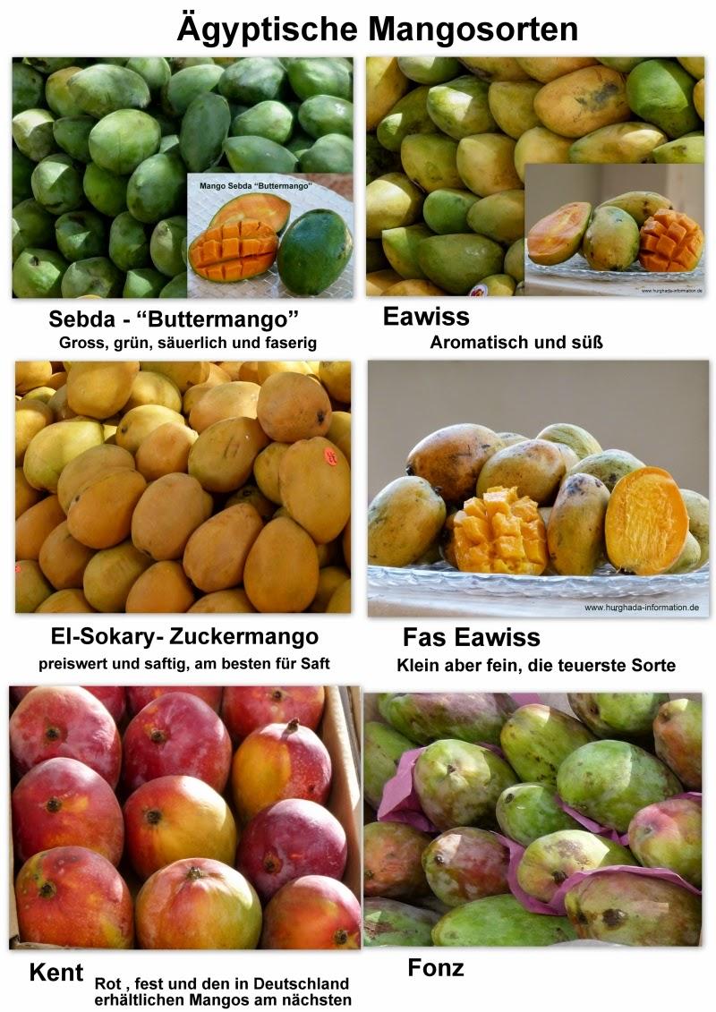 Ägyptische Mangosorten Vergleich
