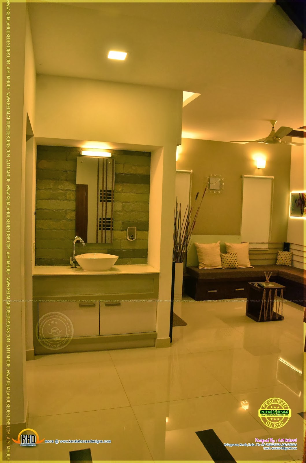 Kerala home design and floor plans beautiful interiors of for M design interiors