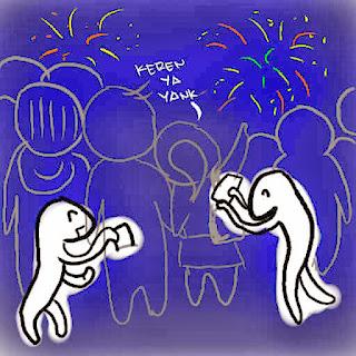 copet tahun baru maling rampok jambret kartun