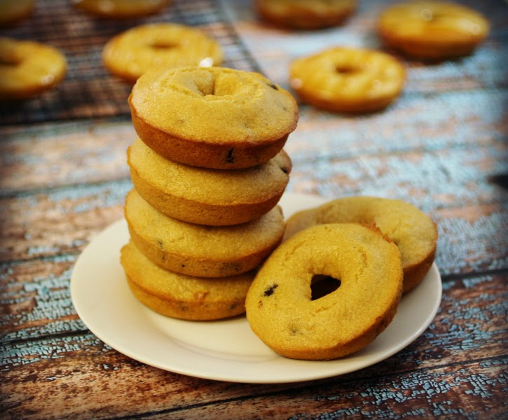 Hungry Harps: Caramel Cornbread Doughnuts with Chocolate Chips