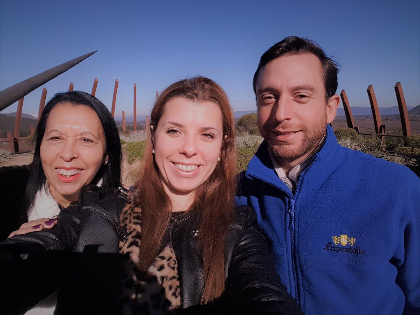 Momento com  o Enólogo Diego Urra Grosselin na Vinícola Lapostolle no Chile