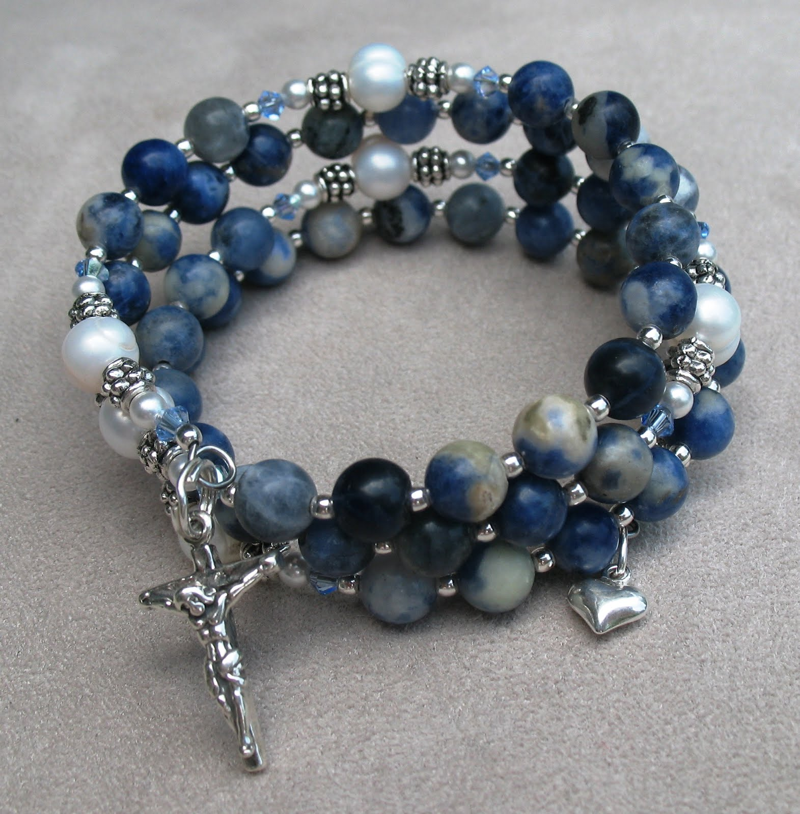 Ave Momma Five Decade Rosary Wrap Bracelets