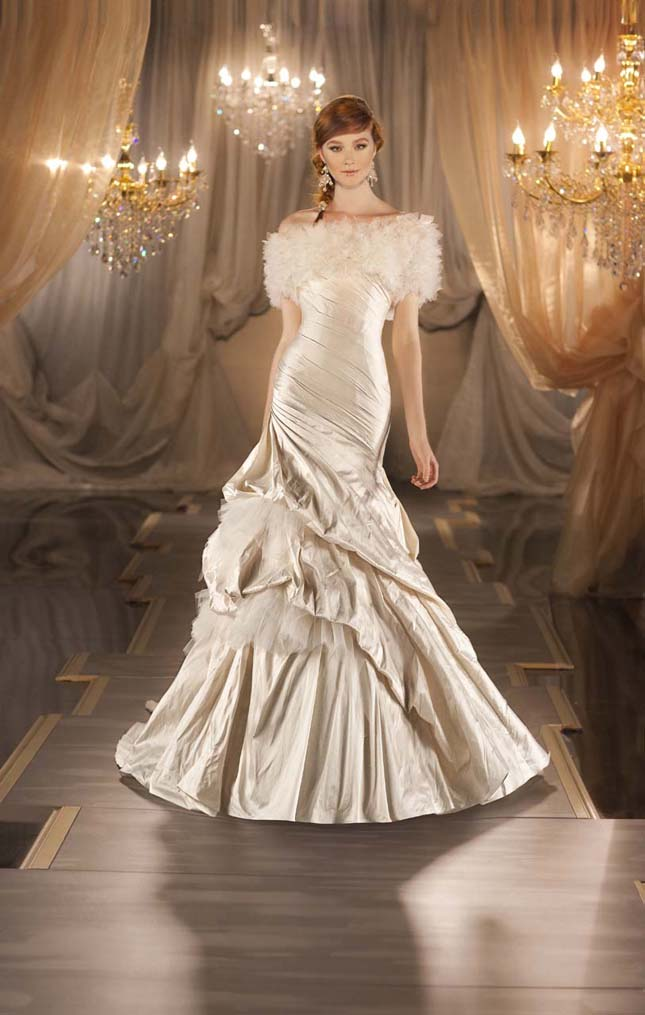 dress of the week martina liana 2012 belle the magazine With non white wedding dress