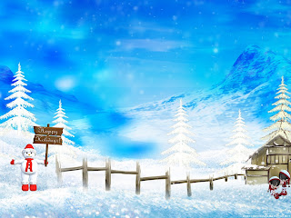Special Holiday christmas Wallpaper blue