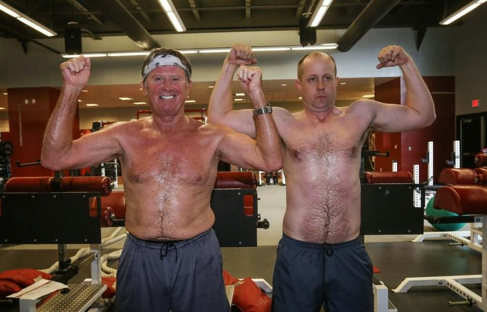 Steve Spurrier turning 70, still working out harder than most sports reporters.